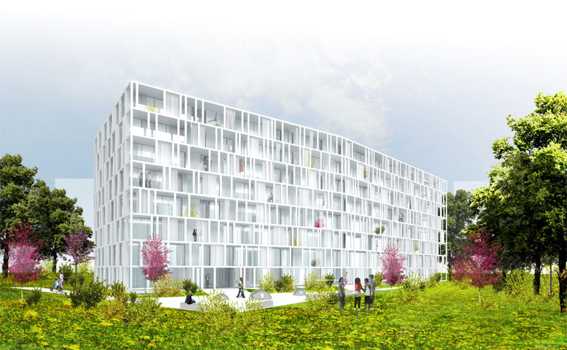 Textile, 60 Social Apartments in Geneva, Switzerland ...
